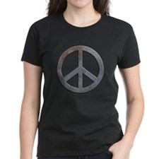 Distressed Metal Peace Sign Tee
