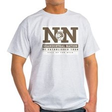 Neanderthal Nation T-Shirt (ash grey)