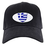 Greek Shield Black Cap