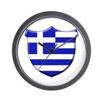 Greek Shield Wall Clock