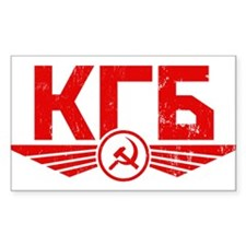 KGB Rectangle Decal