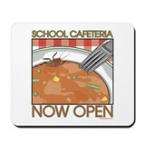 School Cafeteria Food Mousepad