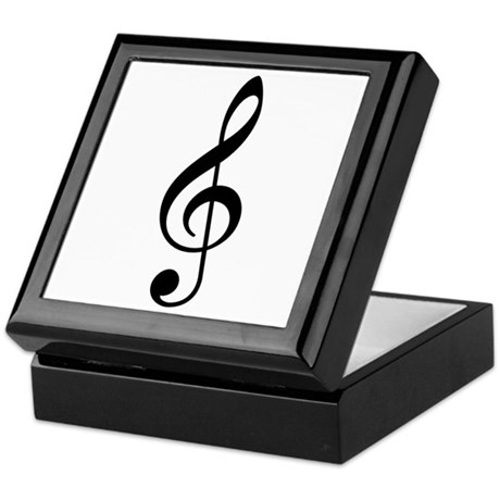 Treble Clef Music Keepsake Box