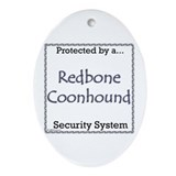 Coonhound Security Oval Ornament