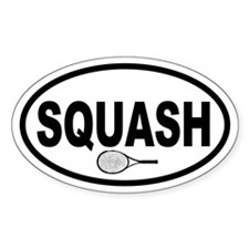 Squash Racket Oval Decal