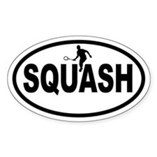 Squash Player Oval Decal
