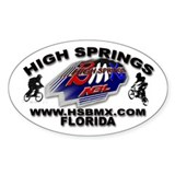 HSBMX Oval Decal