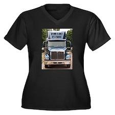 Unique Truckers Women's Plus Size V-Neck Dark T-Shirt