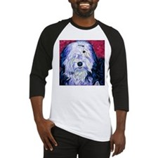 Old English Sheepdog Baseball Jersey