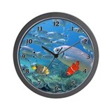 Underwater Tropics Wall Clock