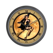 SEXY WITCH Wall Clock