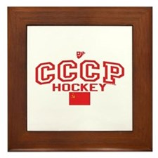 CCCP Soviet Hockey C Framed Tile