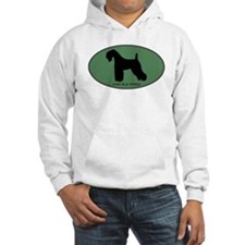 Kerry Blue Terrier (green) Jumper Hoody