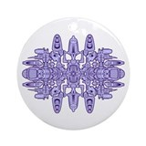 Venter Technoid Purple Ornament (Round)