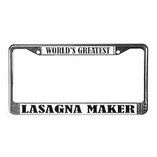 Funny Lasagna Maker License Plate Frame