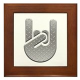 Metal Salute Framed Tile