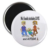 "AUTISM Family 2.25"" Magnet (10 pack)"