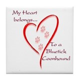 Bluetick HeartBelongs Tile Coaster