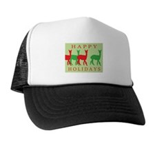 Happy Holidays Alpaca Trucker Hat
