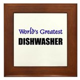 Worlds Greatest DISHWASHER Framed Tile