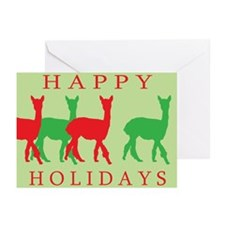 Happy Holidays Alpaca Greeting Cards (Pk of 10)