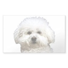 Fifi the Bichon Frise Rectangle Decal