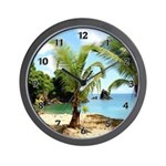 Tropical Paradise Wall Clock