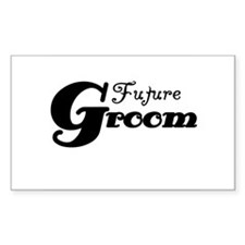 Future Groom Black Rectangle Decal