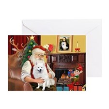 Santa & Amer Eskimo Greeting Cards (Pk of 20)