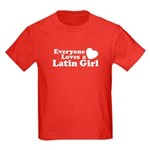 Everyone Loves a Latin Girl Kids Dark T-Shirt