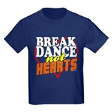 Break Dance Not Hearts Kids Royal Blue Tee