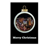 Las Vegas Strip Christmas Ornament Postcards 8