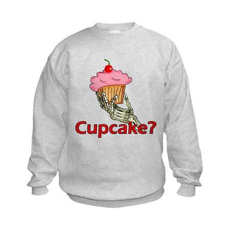 Skeleton Hand Cupcake Kids Sweatshirt