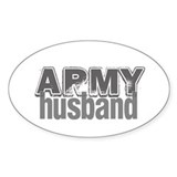 Army Husband Oval  Aufkleber