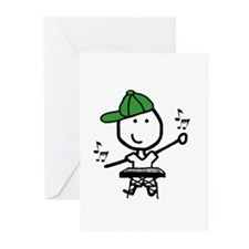 Boy & Keyboard Greeting Cards (Pk of 10)