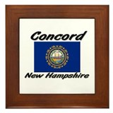 Concord New Hampshire Framed Tile