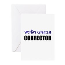 Worlds Greatest CORRECTOR Greeting Cards (Pk of 10