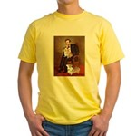 Lincoln's 2 Corgis (Pem) Yellow T-Shirt