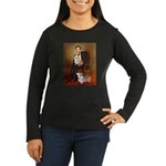 Lincoln's 2 Corgis (Pem) Women's Long Sleeve Dark