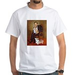 Lincoln's 2 Corgis (Pem) White T-Shirt
