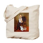 Lincoln's 2 Corgis (Pem) Tote Bag