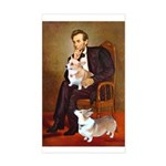 Lincoln's 2 Corgis (Pem) Sticker (Rectangle)