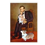 Lincoln's 2 Corgis (Pem) Postcards (Package of 8)