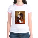 Lincoln's 2 Corgis (Pem) Jr. Ringer T-Shirt