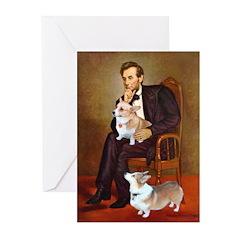 Lincoln's 2 Corgis (Pem) Greeting Cards (Pk of 20)