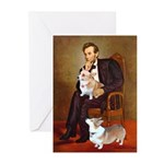 Lincoln's 2 Corgis (Pem) Greeting Cards (Pk of 10)