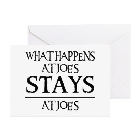 STAYS AT JOE'S Greeting Cards (Pk of 20)