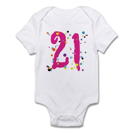 21 Confetti Infant Bodysuit