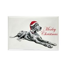 Great Dane Merley Xmas UC Rectangle Magnet