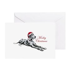 Great Dane Merley Xmas UC Greeting Card